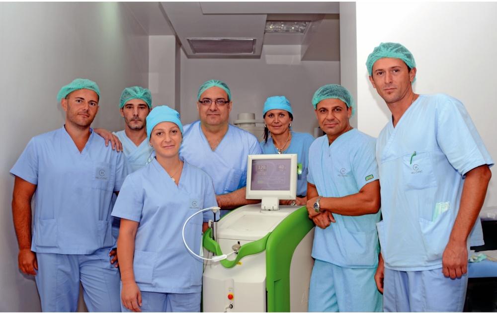 Д-р Санча, ръководител на операционния ни екип: Д-р Боцевски, д-р Коцев, д-р Георгиев